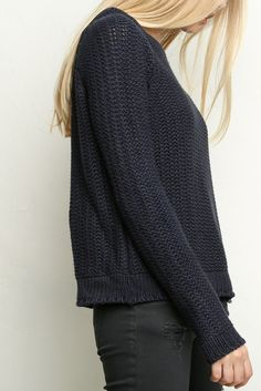 Brandy ♥ Melville | Madisin Sweater - I like the blue color of this sweater.