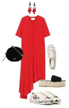 """Red & Relaxed!!!"" by la-harrell-styling-co ❤ liked on Polyvore featuring Maison Margiela, Nasty Gal and Kate Spade"