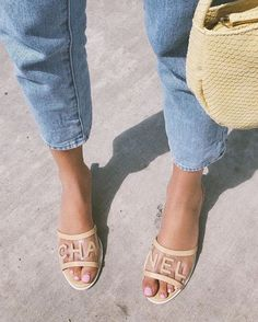 Chanel Sandals, Chanel Shoes, Spring Shoes, Summer Shoes, Summer Outfits, Crazy Shoes, Me Too Shoes, Sneaker Heels, Mode Inspiration