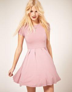 ASOS Cap Sleeve Skater Dress