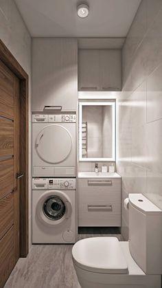 Laundry Bathroom Combo, Pantry Laundry Room, Laundry Room Cabinets, Small Laundry Rooms, Bathroom Layout, Bathroom Interior Design, Bathroom Styling, Small Bathroom, Planer Organisation