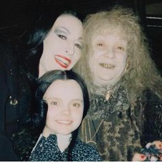 Candid photo during the filming of The Addams Family (1991)