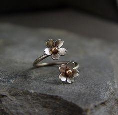 Cherry Blossom Adjustable Branch Ring