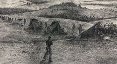 """Edwin Forbes Civil War Drawings   """"The Outer Picket Line, Winter,"""" Edwin Forbes, copper plate etching ..."""