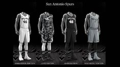 San Antonio Spurs uniform set, 2017-18