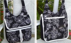 The Gadabout Bag - Great for School - Pattern by StudioKat Designs