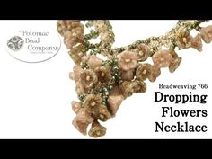 "▶ Make a "" Dropping Flowers "" Necklace - #Seed #Bead #Tutorials"