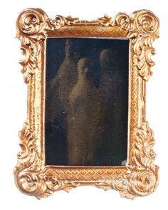 Geisterspiegel Wandspiegel Spiegel Geist Puppenhaus Puppenstube tin1015