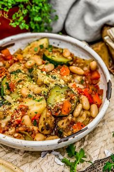 Rustic Italian Vegetable Bake – Monkey and Me Kitchen Adventures This tasty and comforting Rustic Italian Vegetable Bake is easy to make, ultra-satisfying, and brimming with feel good ingredients and flavors. Best Vegetable Recipes, Vegetable Bake, Whole Food Recipes, Vegetarian Recipes, Cooking Recipes, Healthy Recipes, Veggie Bake, Veggie Italian Recipes, Italian Desserts