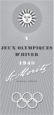 The evolution of the Olympic logo - St. Moritz Winter Games in 1948 in Switzerland. Youth Olympic Games, Winter Olympic Games, Winter Games, Bobsleigh, 2010 Winter Olympics, Rio Olympics 2016, Saint Moritz, Olympic Colors, Olympic Logo