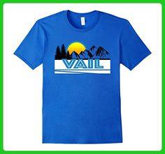 Mens Vail T-Shirt - Retro Style Ski & SnowboardTee-Shirt Large Royal Blue - Retro shirts (*Amazon Partner-Link)