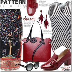 How To Wear Patternmixing Outfit Idea 2017 - Fashion Trends Ready To Wear For Plus Size, Curvy Women Over 20, 30, 40, 50