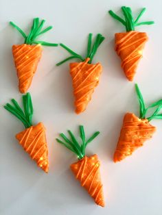 Carrot Rice Krispy Treats 🥕 Rice Krispie Treats, Rice Krispies, Carrots, Easter, Foods, Vegetables, Kitchen, Food Food, Food Items