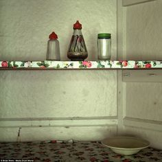 Empty: These old salt and pepper shakers were found inside a former night porters' cabin, at an abandoned TB Hospital in Mundesley
