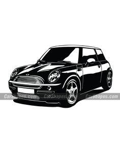 2002 MINI COOPER (FREE) Car Vector, Vector Illustrations, Hot Cars, Laser Engraving, Automobile, England, Mini, Free, Autos