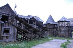 SLAVIC Moscow Film set - recreation of Medieval Novgorod Architecture