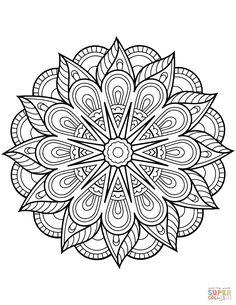 Free Coloring Pages Mandala. 30 Free Coloring Pages Mandala. Mandala From Free Coloring Books for Adults 23 Mandalas Flower Coloring Pages, Mandala Coloring Pages, Coloring Book Pages, Coloring Pages For Kids, Coloring Sheets, Kids Coloring, Fairy Coloring, Alphabet Coloring, Mandalas Painting
