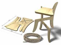 Детский раскладной стул из фанеры чертежи