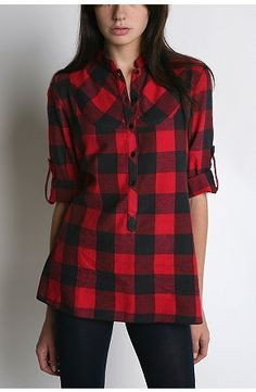 Bdg Fitted Buffalo Plaid Tunic