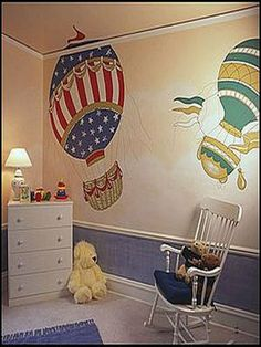 1000 images about hot air balloon room on pinterest hot air balloon planes and nursery decor - Bedroom decorating with balloons ...