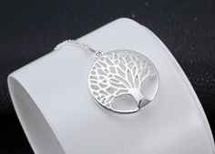 Elegant Silver Tree of Life Necklace