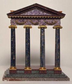 Reduction of the Temple of Mercury Grand Tour, Lapis Lazuli, Decoration, Mercury, Garnet, Temple, Amethyst, Objects, Bronze