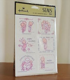$37 2013 Estate sale find! Hallmark Betsey Clark 24 Self-Adhesive Seals Includes four sheets of six stickers. Images are dated 1968 through 1972 and feature various Christmas holiday messages. So precious! Se