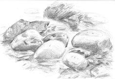 realistic rocks drawing - Google Search