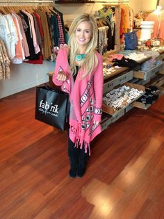 Emily Maynard- love the pink sweater. Yes Please.