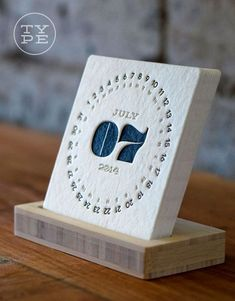 2014 Letterpress Desk Calendar (for those who love the classic look and feel of letterpress print):