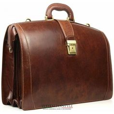 Chiarugi brown leather briefcase with laptop comparment Made in Italy  Leather Laptop Bag 10179d2eb7bfb