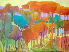 Carly Hardy -- Trees That Would Not Conform - Oil on Canvas
