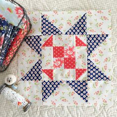 Carried Away Quilting: Star Spangled BOM with Fort Worth Fabric Studio: Block 2