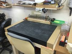 new tooling bench in LeeValley's shop