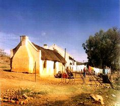 Zoar ('refuge', 'haven') village and mission station E of Ladismith, Western Cape. Founded by South African Missionary Society on Elandsfontein farm named after Zoar by the Red Sea. Very old photo taken with very old camera. Please excuse bad quality. Landscape Drawings, Cool Landscapes, Landscape Photos, Landscape Paintings, Landscape Photography, South African Homes, African House, South African Artists, South Afrika