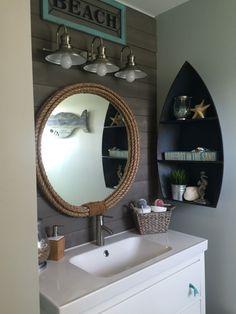 Kids nautical bathroom remodel final results