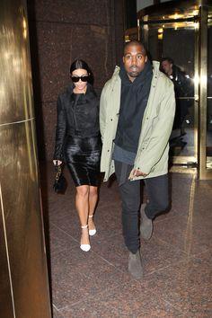 Kim & Kanye leaving Def Jam's office in NYC - January 8, 2014