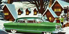 retro snow scene