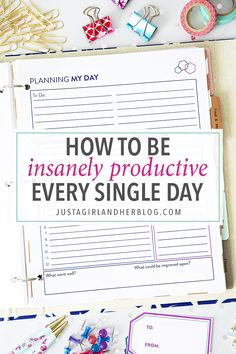Want to be more productive with your days? Try this simple technique! Snag a free pretty printable too!