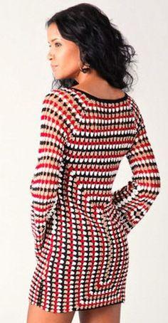 Very different and very beautiful crochet dress patterns Part 51 – Typical Miracle Crochet Seashell Applique, Black Crochet Dress, Crochet Blouse, Diy Dress, Blouse Vintage, Beautiful Crochet, Crochet Clothes, Pull, Dress Patterns