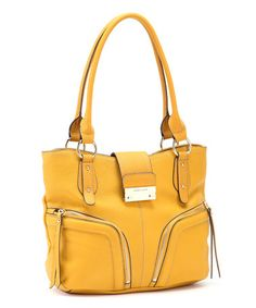 2a126fc2f71 Canary Yellow Clara Tote by Franco Sarto Best Handbags, Nice Handbags, Best  Friend Outfits