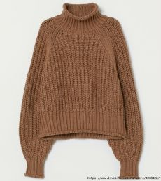Boxy sweater in fine-knit alpaca-blend fabric. Round, ribbed neckline, heavily dropped shoulders, and long balloon sleeves. Wide ribbing at cuffs and hem. Beige Pullover, Beige Sweater, Pull Beige, Dark Beige, Light Beige, Knitted Doll Patterns, Fall Outfits, Cute Outfits, Ribbed Turtleneck