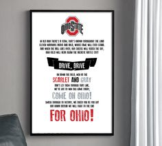 OSU Fight Song Poster - THE Ohio State University