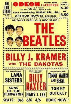 """The Beatles - Odeon, Llandudno."" Fantastic A4 Glossy Art Print Taken from A Vintage Concert Poster by Design Artist http://www.amazon.co.uk/dp/B015609T8C/ref=cm_sw_r_pi_dp_XXs8vb0SND539"