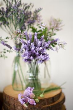 woodland lavender in mason jar wedding centerpieces ideas