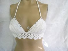 Crochet bikiniHippie Bikini Top  gyspy top by StudioCybele on Etsy, $25.00
