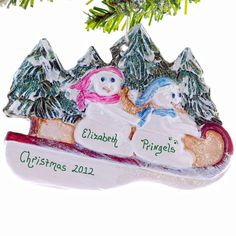 Personalized Snowmen Christmas ornament  by Christmaskeeper, $13.95