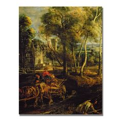 An Autumn Landscape by Peter Rubens Painting Print on Canvas