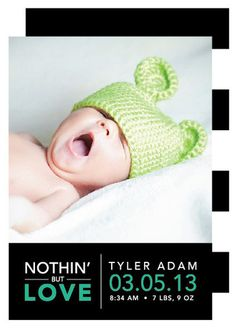 Nothin' But Love Birth Announcements