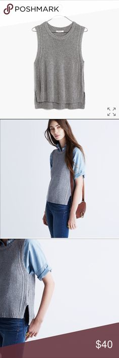 Madewell edgestitch sweater-vest Madewell edgestitch sweater-vest Madewell Sweaters Crew & Scoop Necks